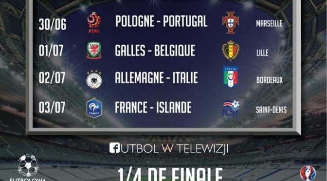 PLAN TRANSMISJI 1/4 FINAŁU EURO 2016